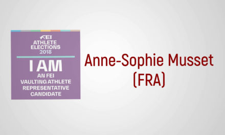Sono un candidato FEI: Anne-Sophie Musset