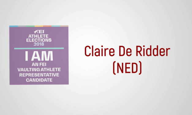 Sono un candidato FEI: Claire De Ridder