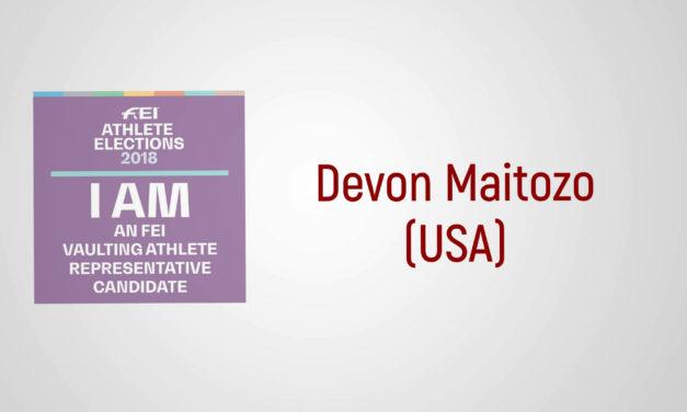 Sono un candidato FEI: Devon Maitozo